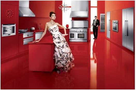 thermador kitchen red